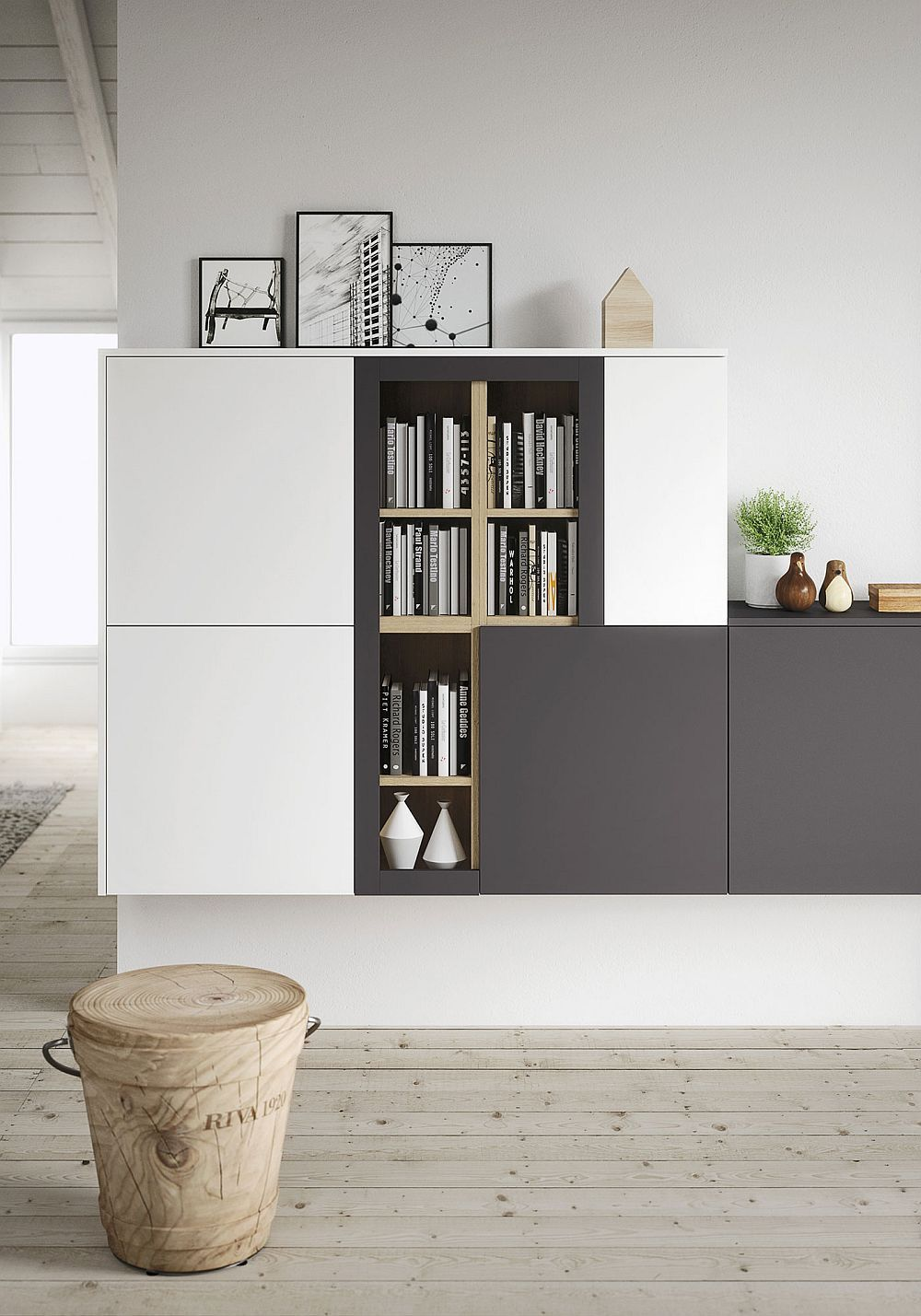 First Kitchen Modular Freedom Wrapped In Casual Minimalism Small Living Room Storage Living Room Shelves Living Room Storage Cabinet