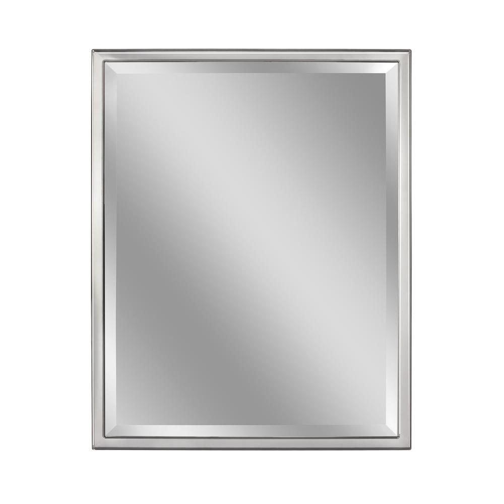 Deco Mirror 24 In W X 30 In H Framed Rectangular Beveled Edge Bathroom Vanity Mirror In Chrome 8022 The Home Depot Classic Wall Mirrors Framed Mirror Wall Mirror Wall [ 1000 x 1000 Pixel ]