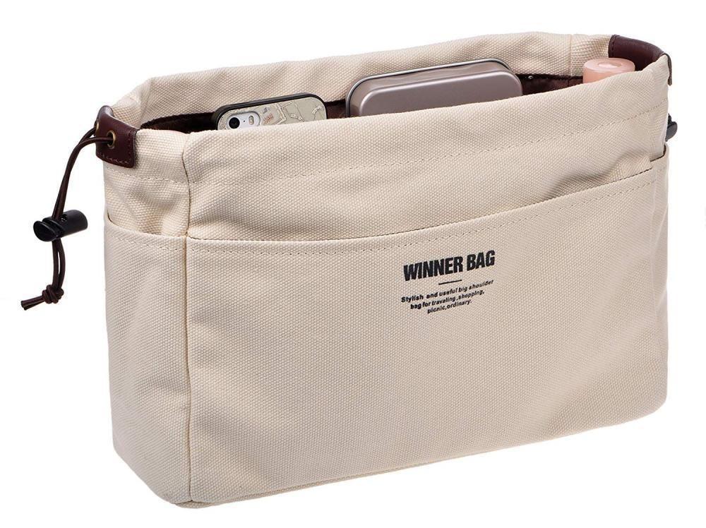 Vercord Canvas Handbag Organizers Sturdy Purse Insert