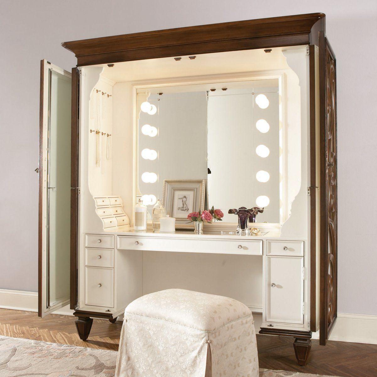 Jessica McClintock Couture Bedroom Vanity Set - Bedroom ...
