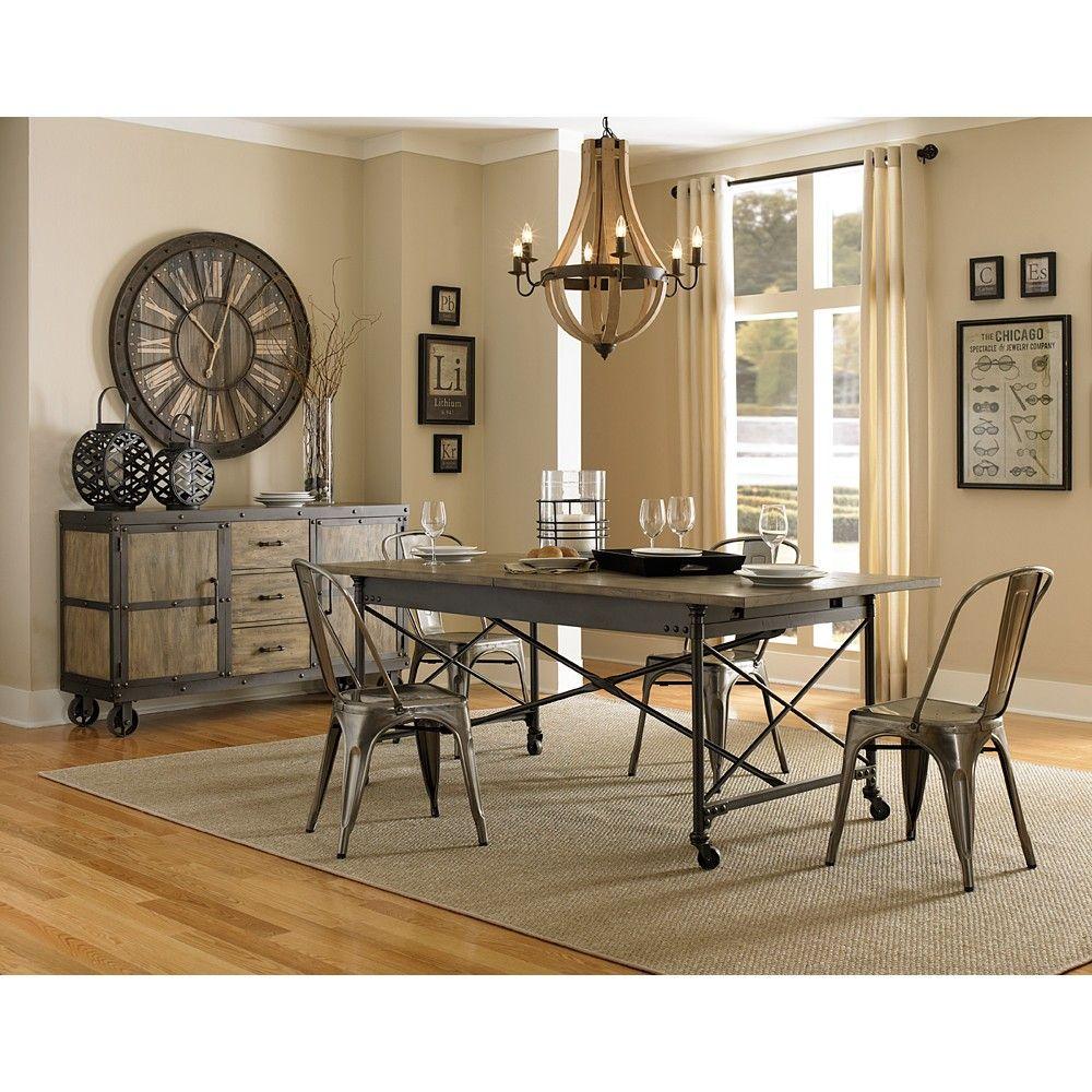 Walton Iron U0026 Wood Rectangular Dining Table U0026 Chairs By Magnussen Home