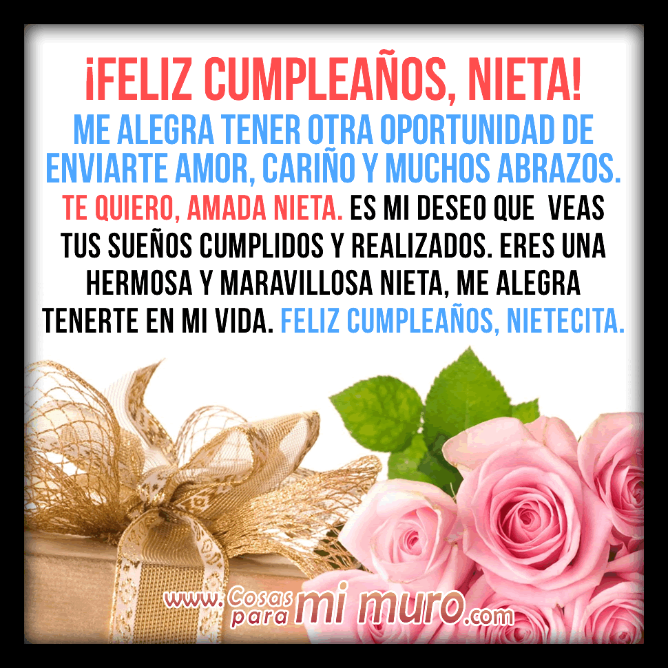 Felicitaciones Cumpleaños Para Nietos