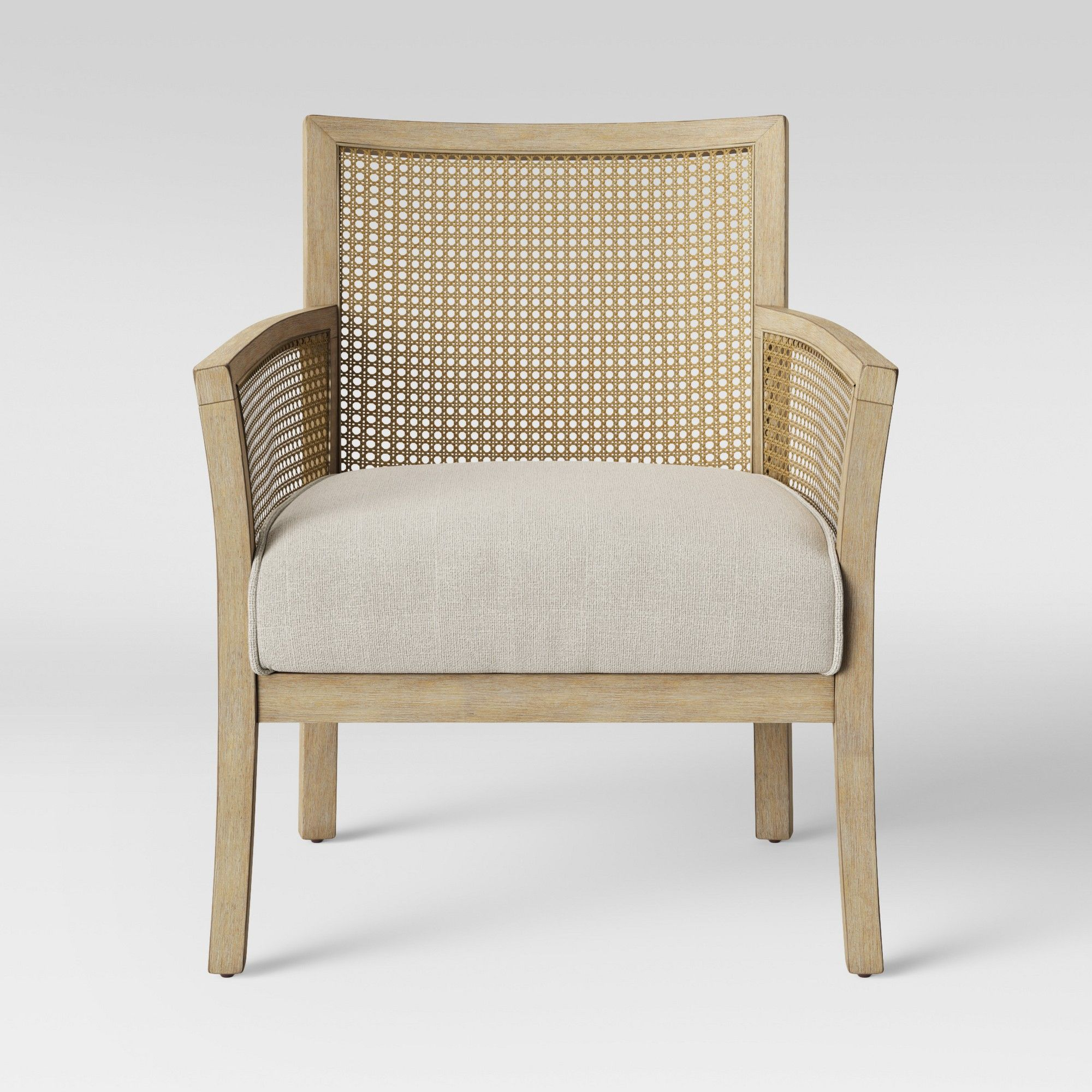 Laconia Caned Accent Chair Beige Threshold Accent Chairs