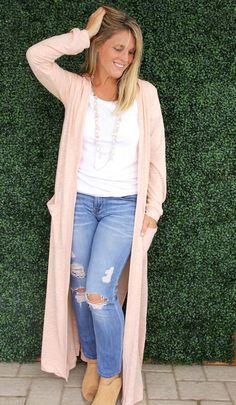 Modern Maxi DIY Cardigan   Treat yourself to a chic and stylish cardigan this fall!