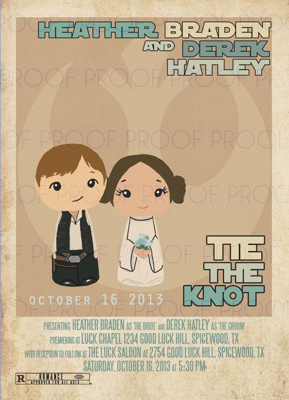 Star Wars Inspired Wedding Or Party Invitation Printable