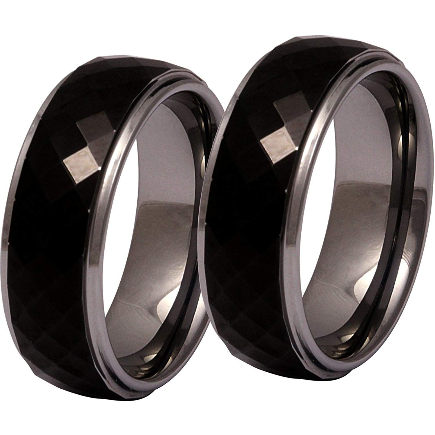 1f16209ee3a54 Jewellery Excellent Women's 2 Titanium Partnership rings, engagement ...