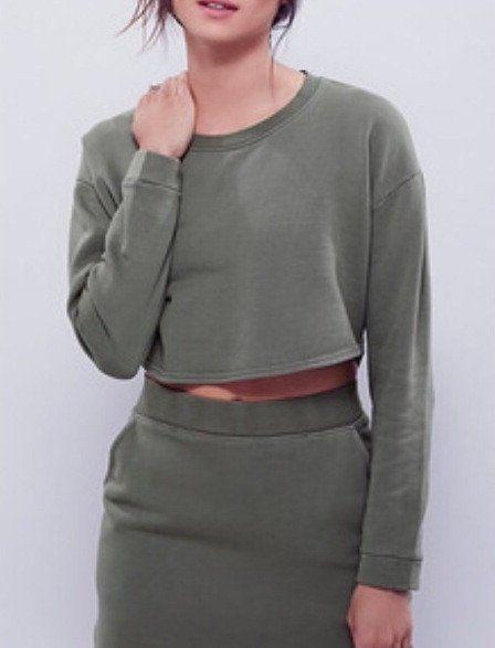 Olive Sweater Skirt Set