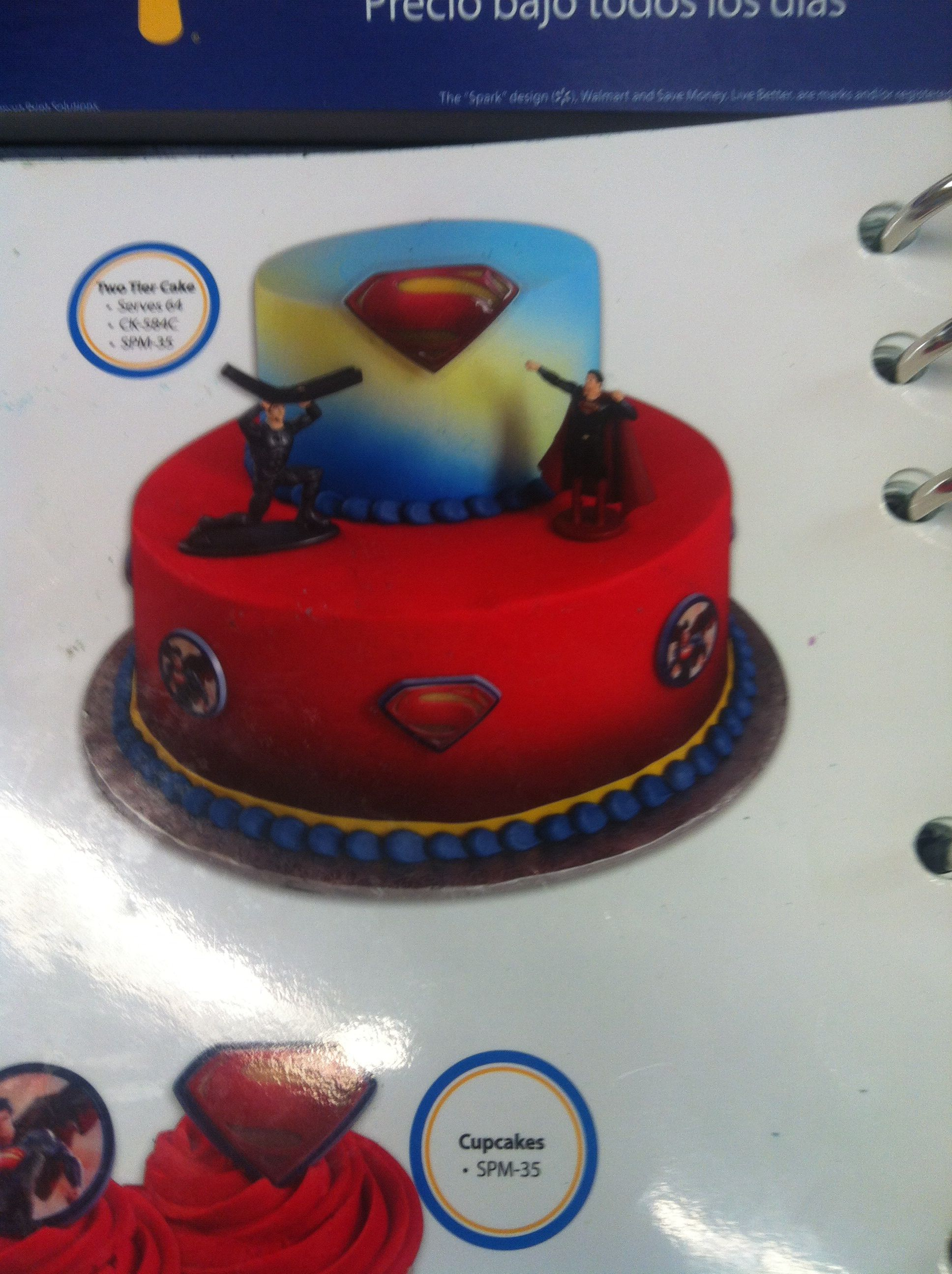 Two Tired Cake From Walmart Man Of Steel
