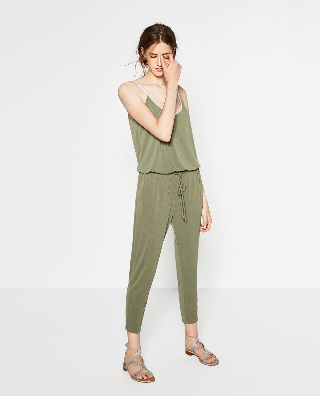 60eb108b4fa Image 1 of LONG JUMPSUIT WITH BRACES from Zara