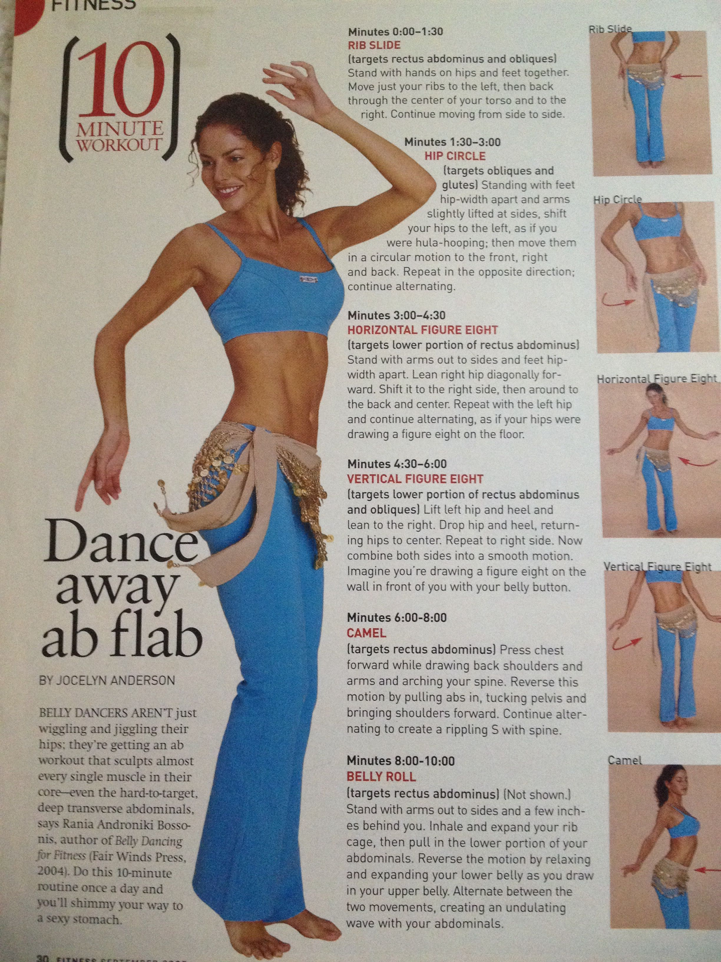 Belly dance away ab flab | Belly dancing for beginners ...