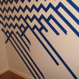 Chevron Pattern Painted Wall | Tutorials, Walls and Craft