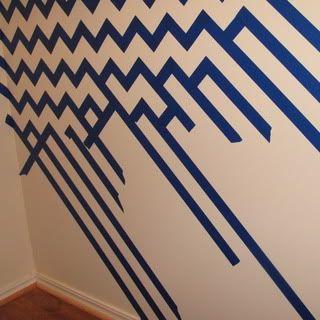 Chevron Pattern Painted Wall