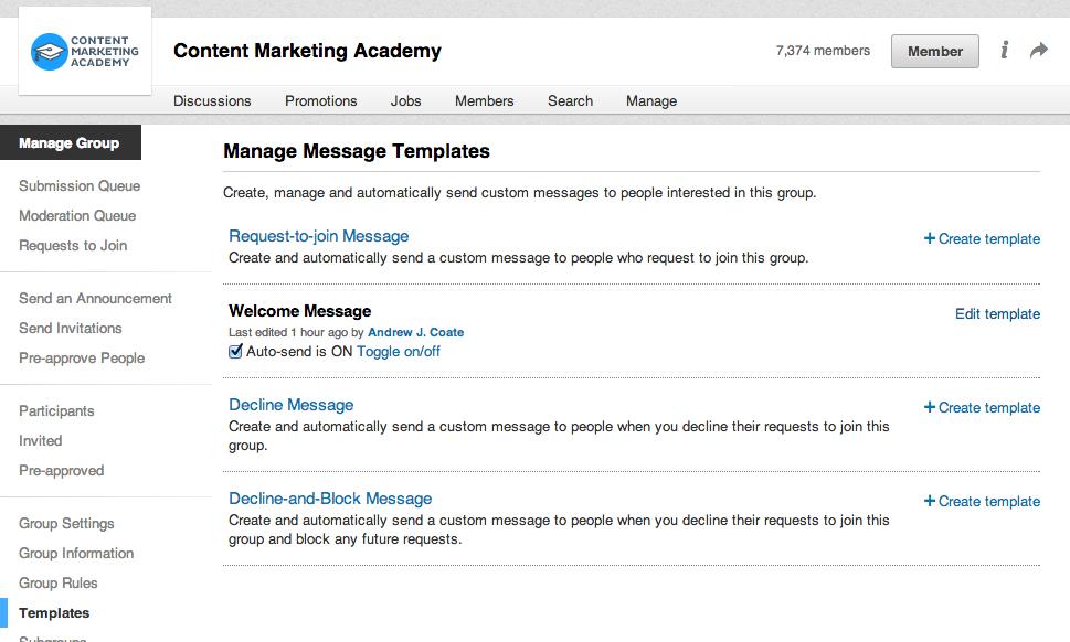 How to Grow Your LinkedIn Group Custom message, Linkedin