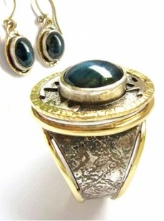 Would you like to have your ashes incorporated into a ring or earrings? This one even has a fingerprint. www.afternote.com