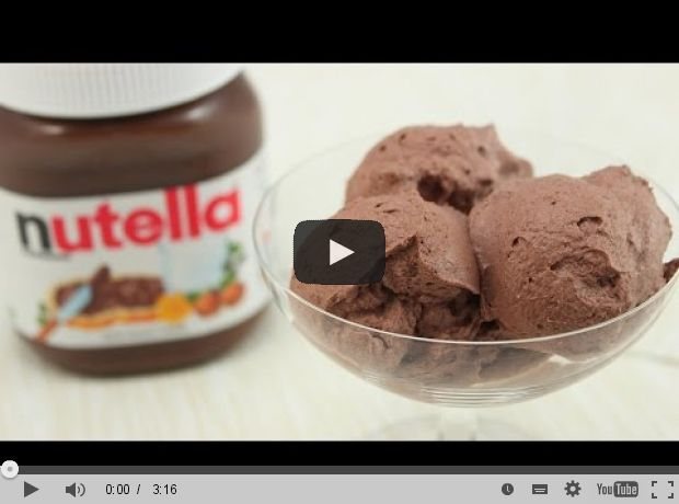 nutella eis selber machen sladoled pinterest eis selber machen eis and nutella. Black Bedroom Furniture Sets. Home Design Ideas