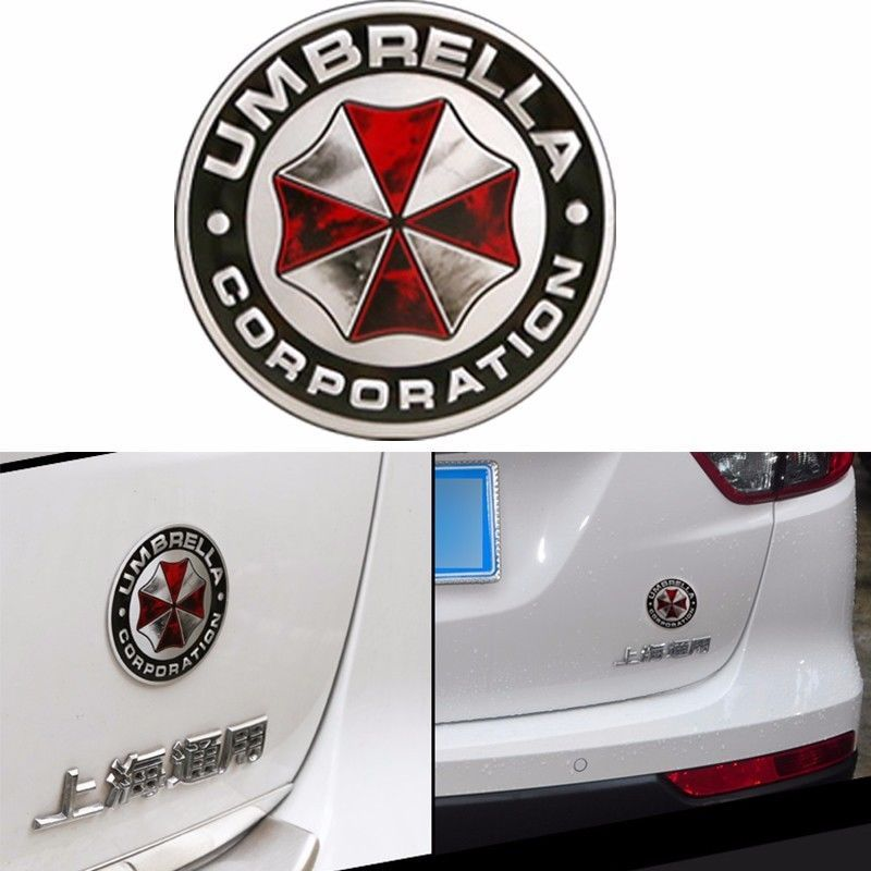 a circle and a rectangle Decal Badge Emblem Aluminum Umbrella Auto Car Sticker