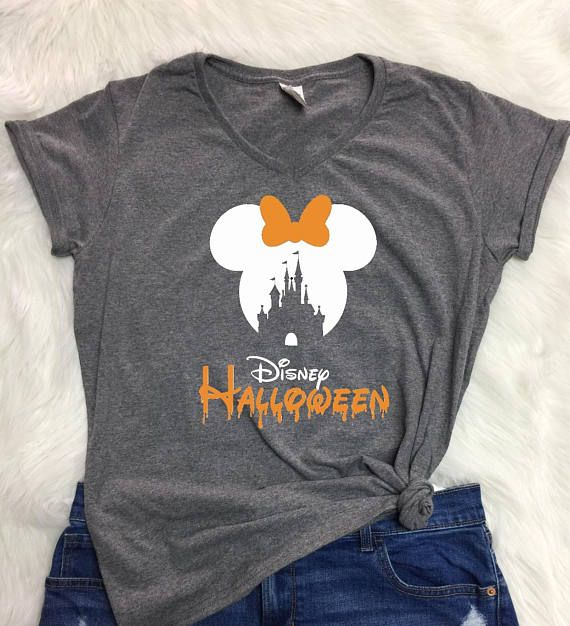 disney castle halloween v neck shirt ladies halloween shirt