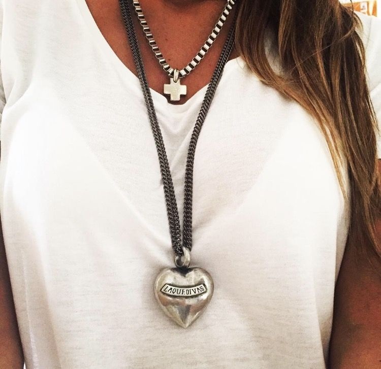 Collar Corazón Largo