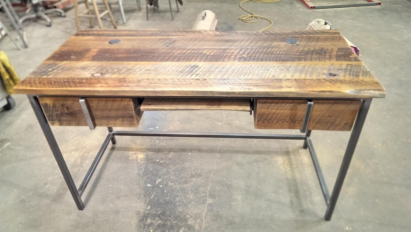 Jane the desk. Built with two under mount drawers and a key board slide.