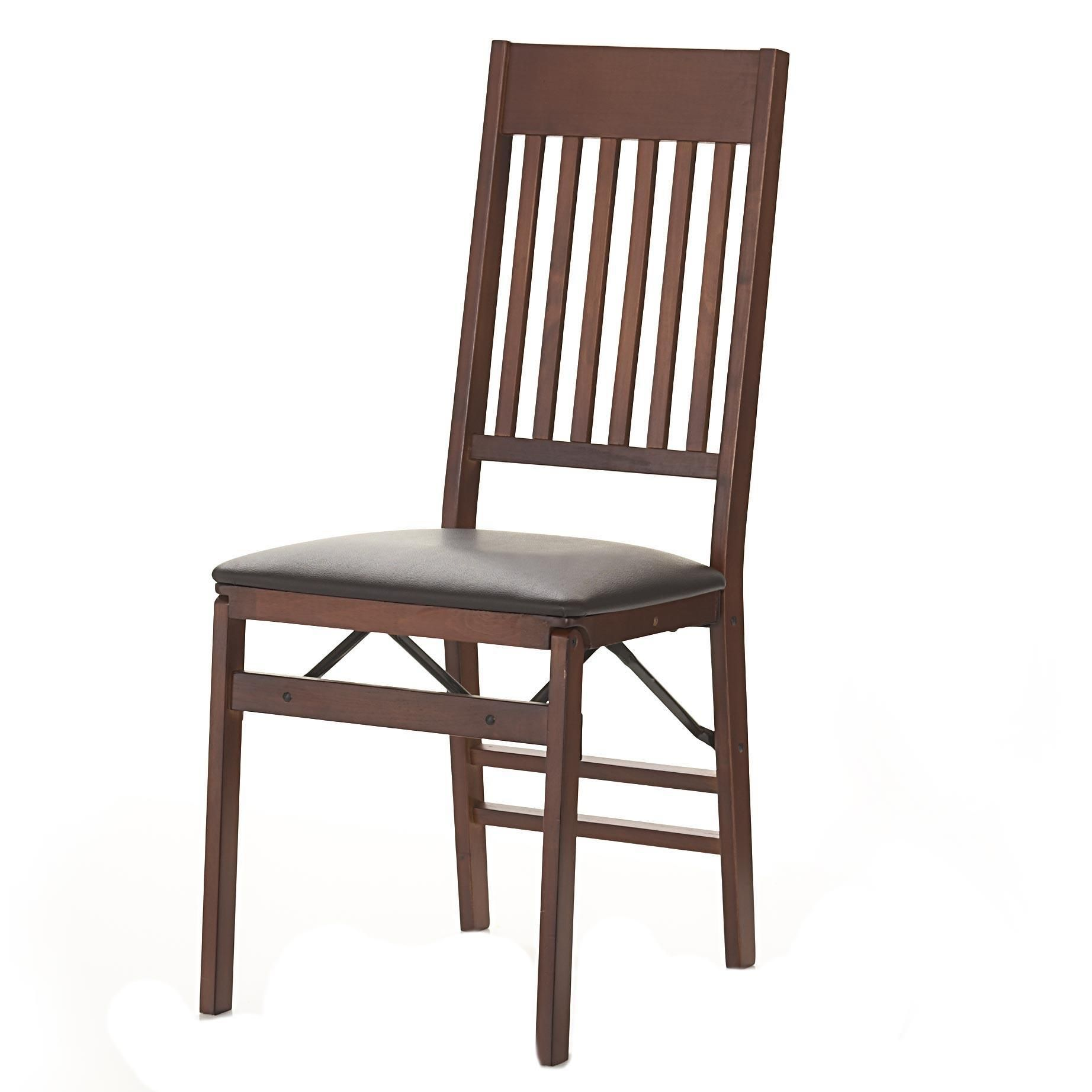 Cosco Wood Folding Chair With Padded Seat