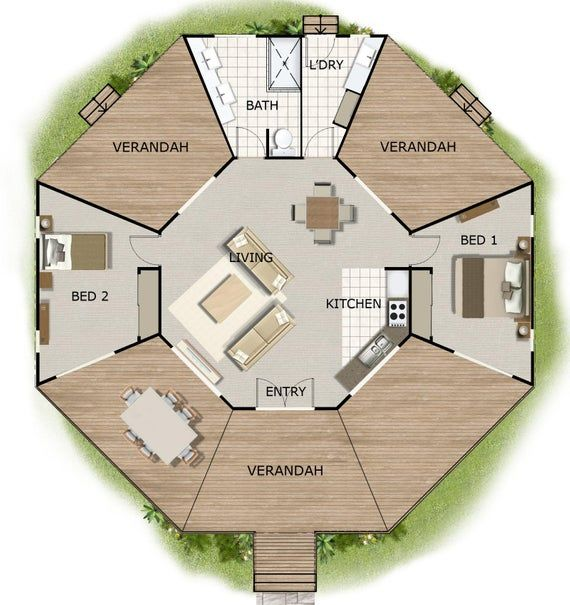 House Design Book Small And Tiny Australian And International Home Plans House Plans House Plans Australia Small House Plans Tiny Plans In 2021 House Plans Australia Round House Plans Octagon House