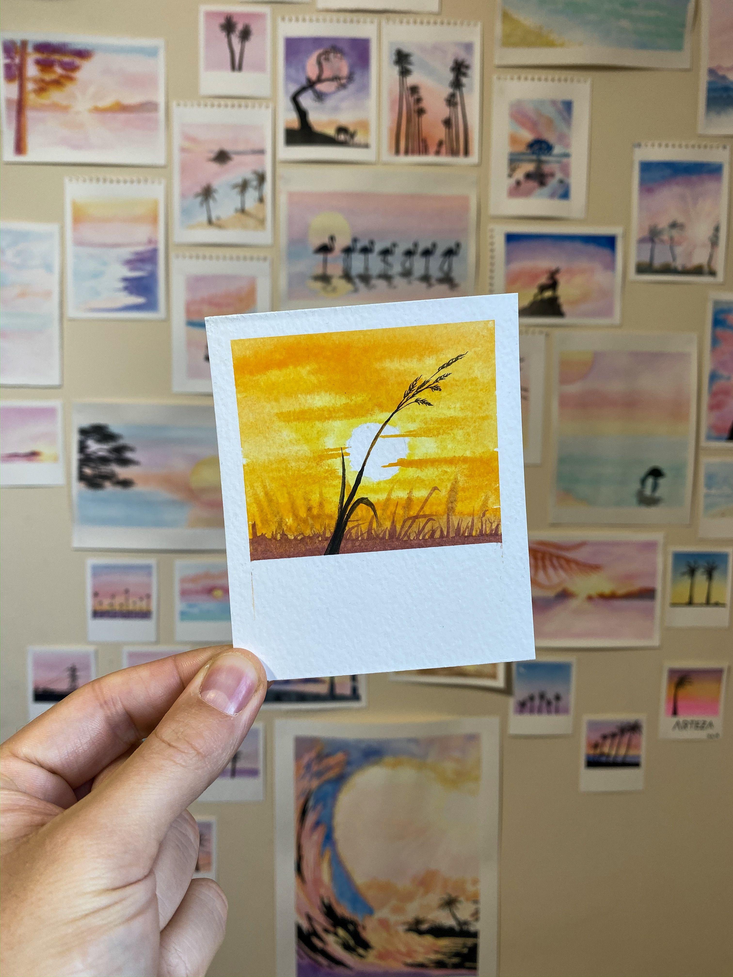 WHEAT - #wheat -  WHEAT   DIY malen Ein minimales, wärmendes Polaroid • #watercolorpainting #paintbrushpolaroids #Aquarell #artistsoninstagram
