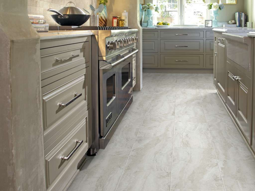 Odyssey Tile Sa387 Crete Resilient Vinyl Flooring Vinyl Plank Lvt In 2020 Kitchen Flooring White Modern Kitchen Flooring