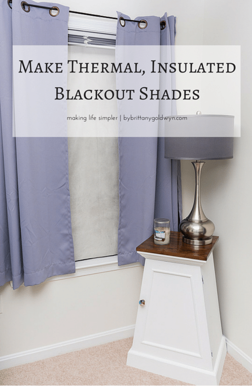 Make Thermal Insulated Blackout Shades Projects To Try