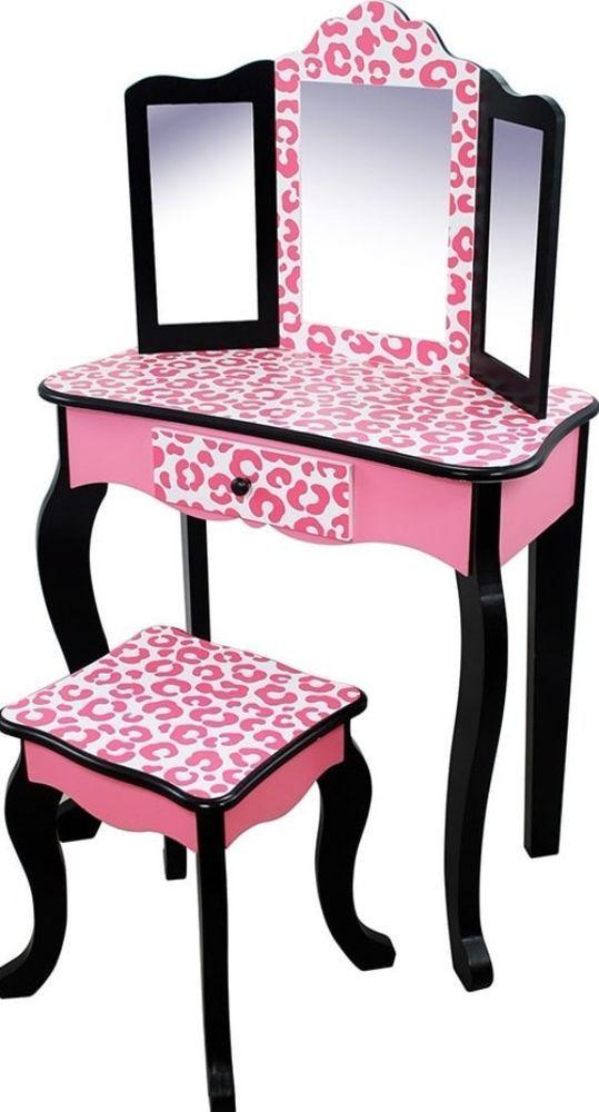Phenomenal Leopard Print Vanity Table And Stool Set Sturdy Modern Cjindustries Chair Design For Home Cjindustriesco