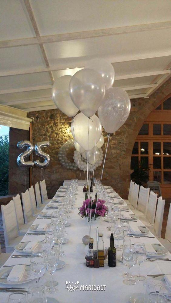ideas para decorar y organizar bodas de plata | bodas de plata