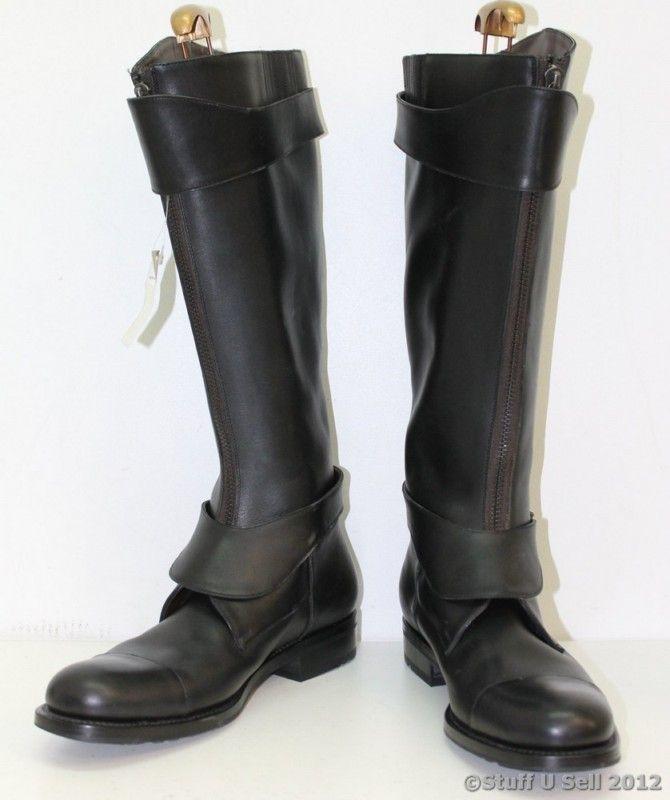 new salvatore ferragamo mens black knee high thick