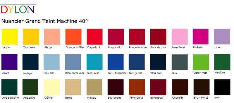 Nuancier dylon nuancier teinture dylon pinterest teinture dylon tablea - Teinture tissu ideal ...