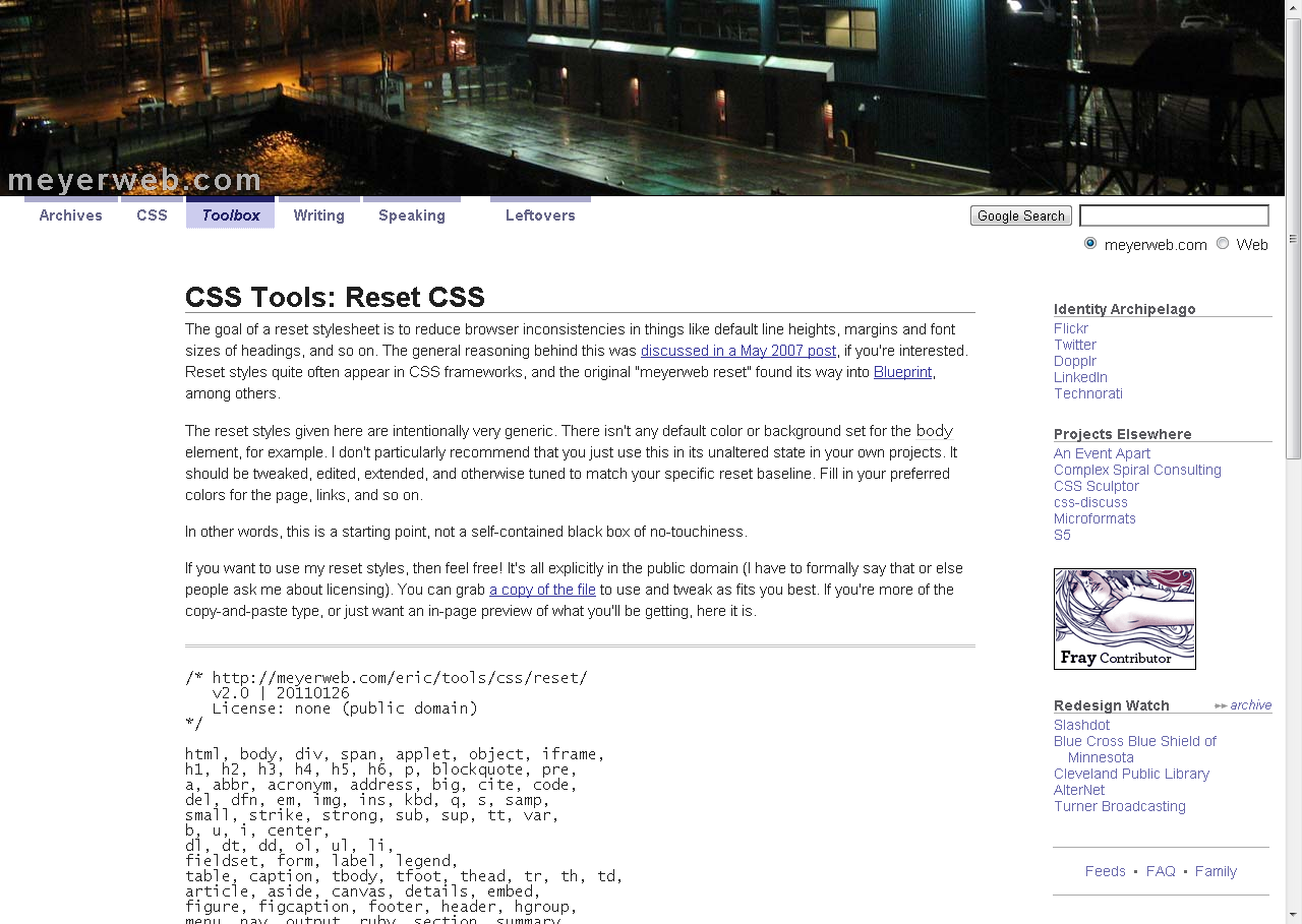 Css tools reset css dev pinterest css tools reset css malvernweather Image collections