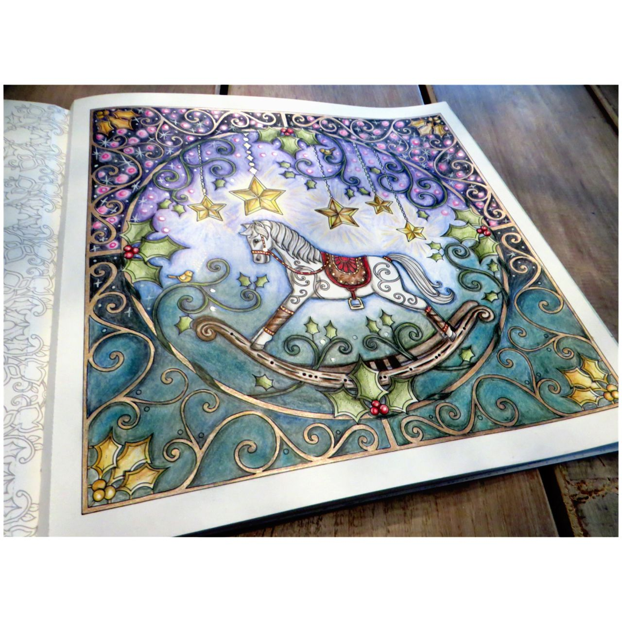 Christmas Rocking Horse ( showing the starry colors) ,Johanna\'s ...