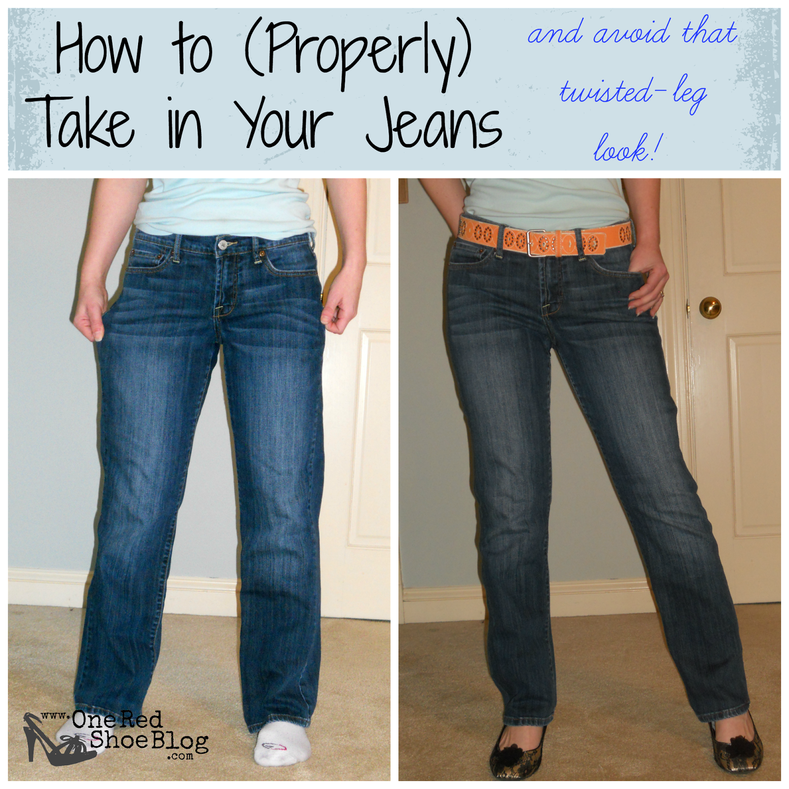 Tutorial: How to Resize Your Jeans to Make them Skinnier. Full ...
