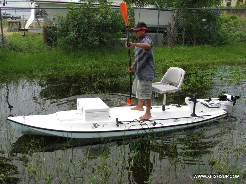 Microskiff small boat paddle board pinterest for Fishing paddle boats