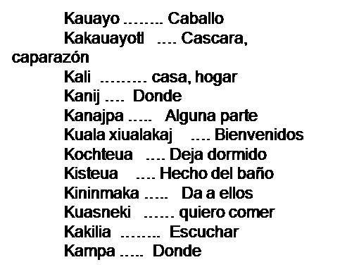 Nahuatl Palabras En Nahuatl Palabras Chidas Palabras Curiosas
