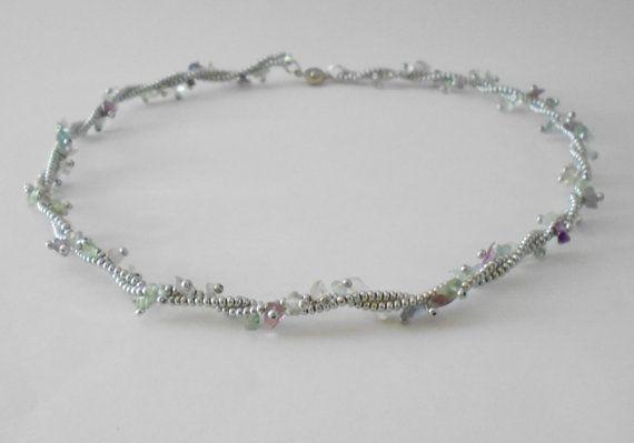 Fluorite necklace Beaded necklace Trending necklace by KrysDoings