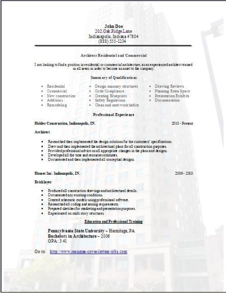 Architecture Resume3 Cv template Pinterest Exercises - technical architect resume