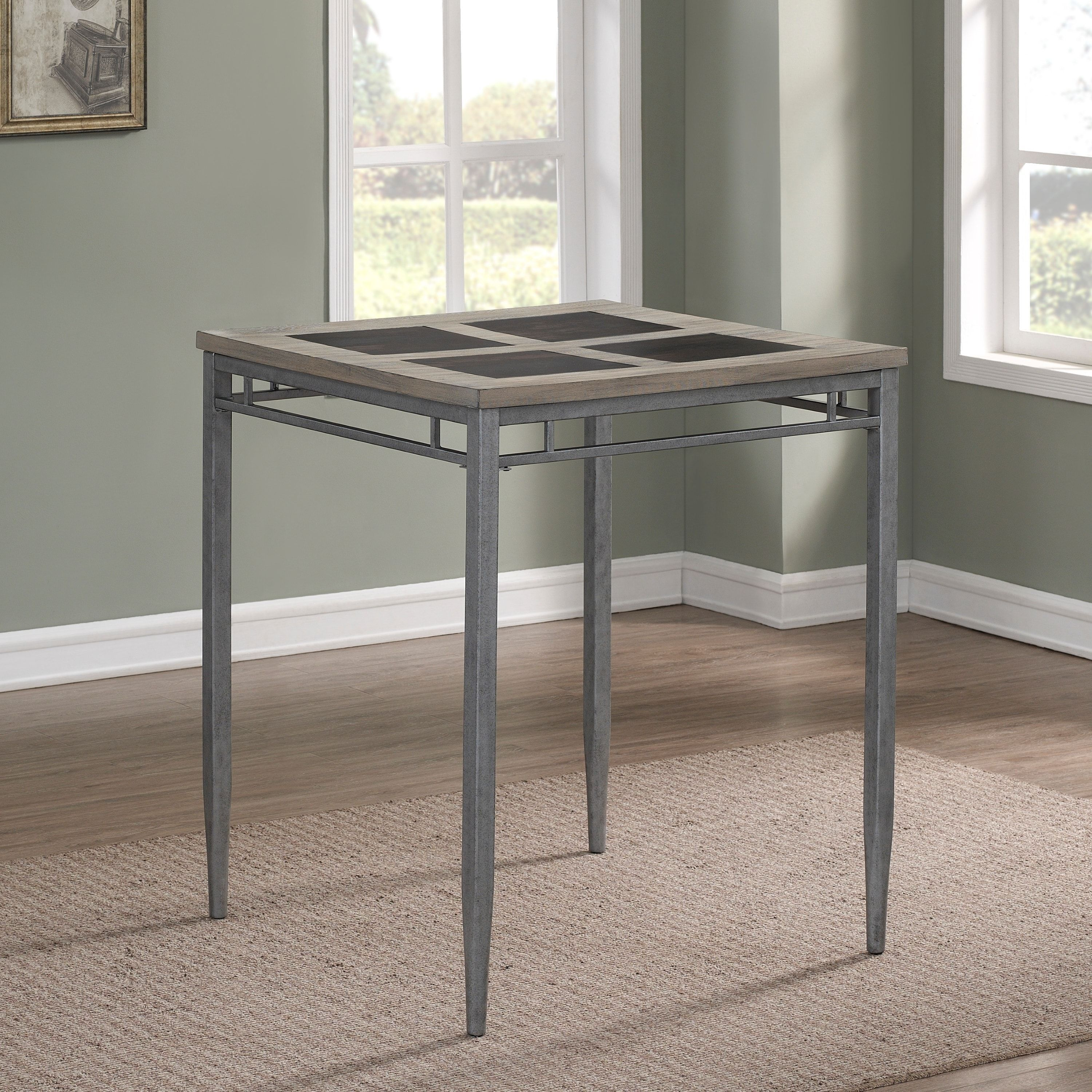 Genial Greyson Living Bexley Grey/Pewter Metal 36 Inch Counter Height Table
