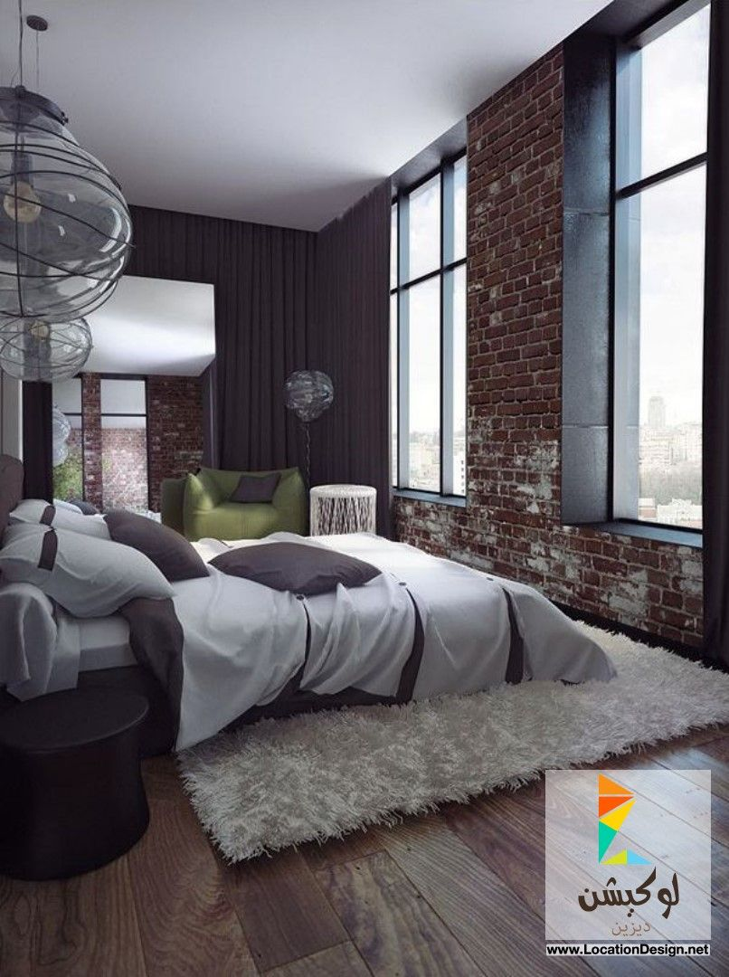16 beautiful exposed brick wall bedroom ideas astonishing exposed brick wall bedroom design with synthetic white rug and laminate wood flooring also lime