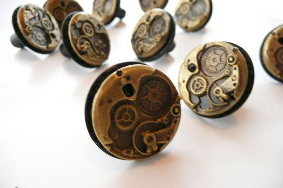 Superb Steampunk Watch Movement Cabinet Knobs By FivePointsMercantile