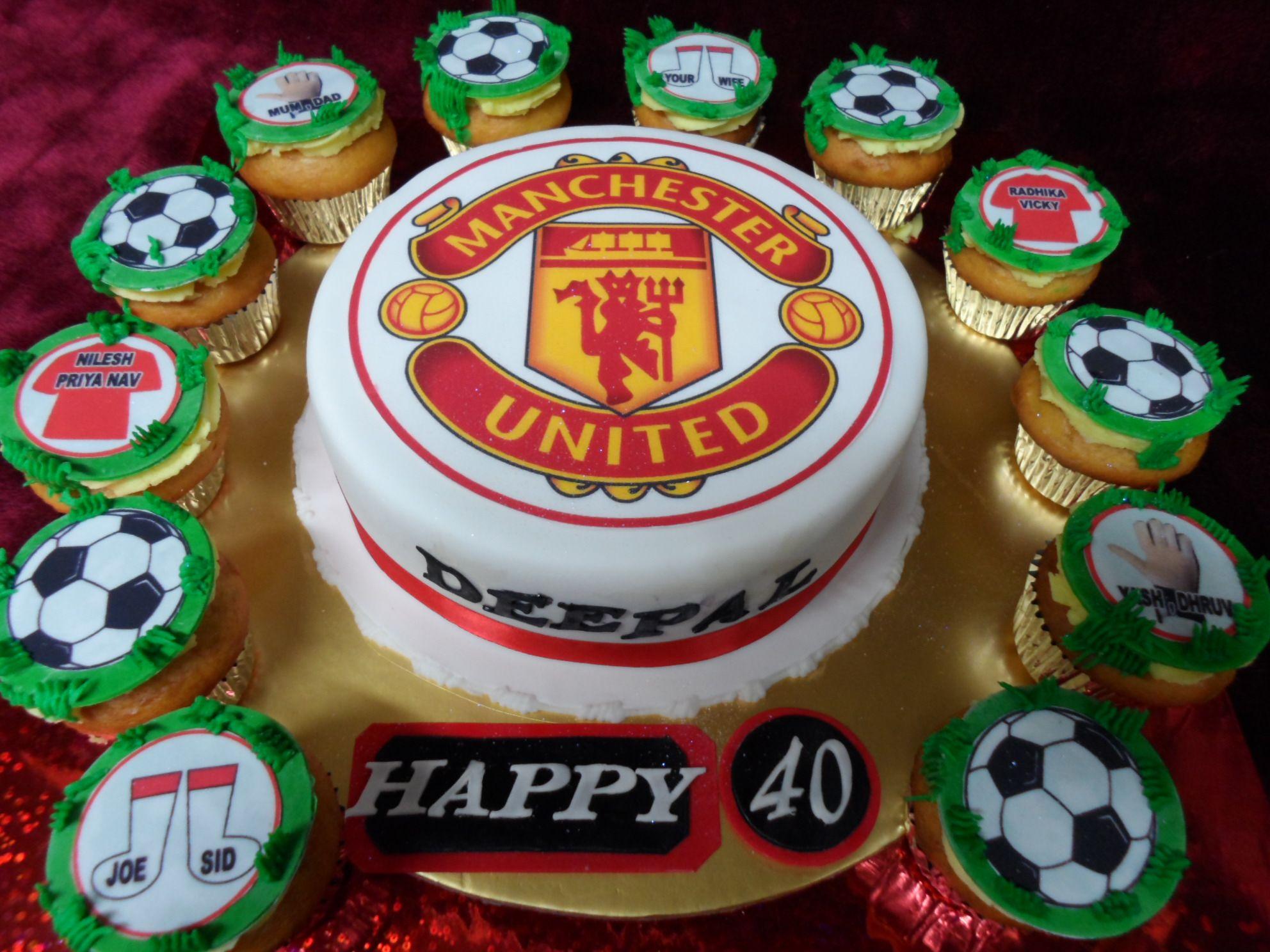 Manchester United Theme Birthday Cake Male Birthday Cake Www