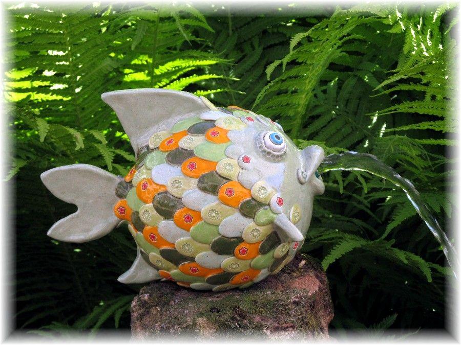 Dekorative Keramikunikate für Haus und Garten, in fröhlichen - haus und garten