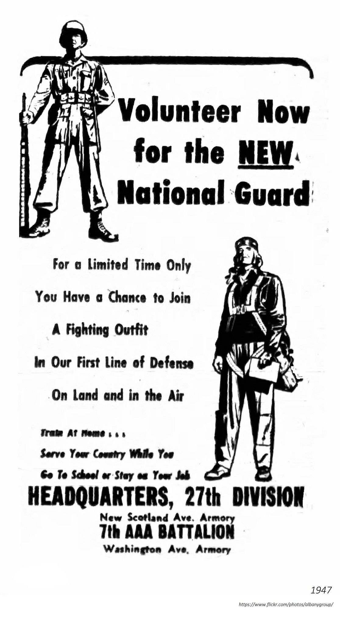 1947 National Guard recruitment ad. (With images
