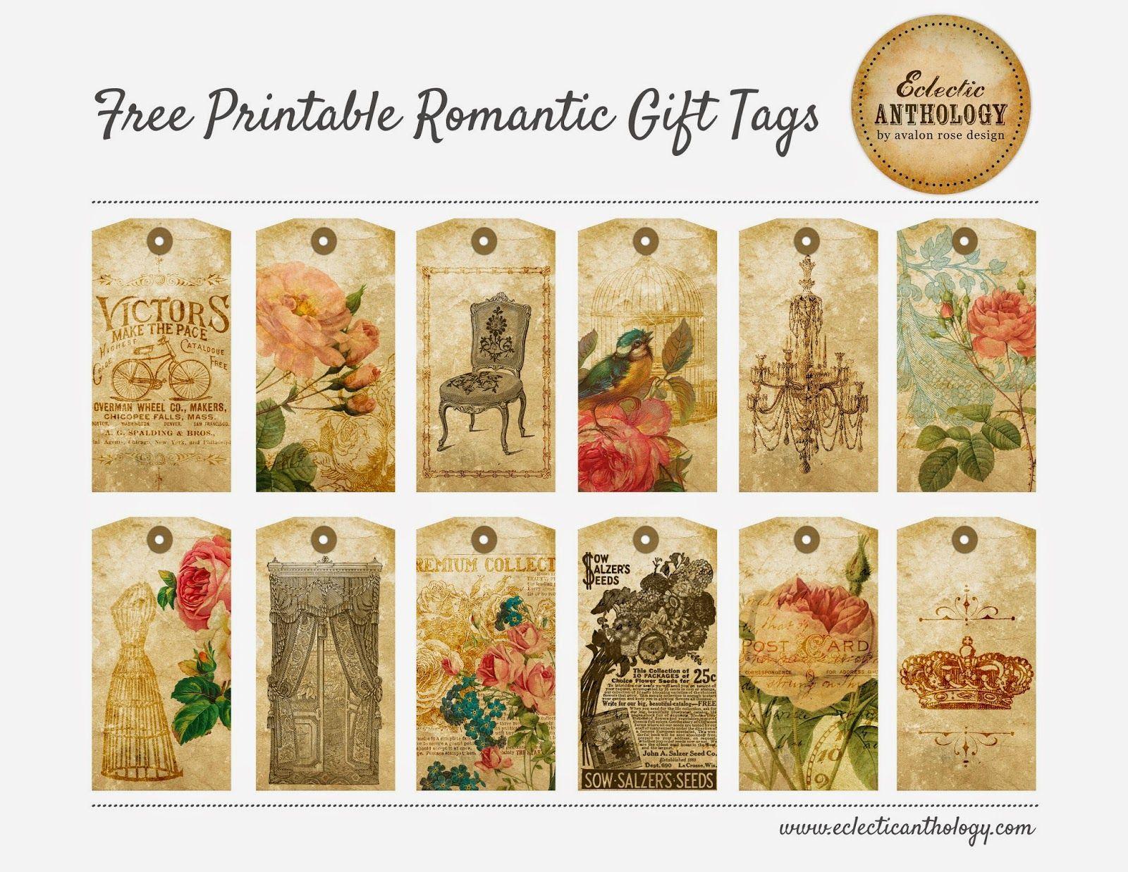 Imprimolandia: Etiquetas vintage de flores