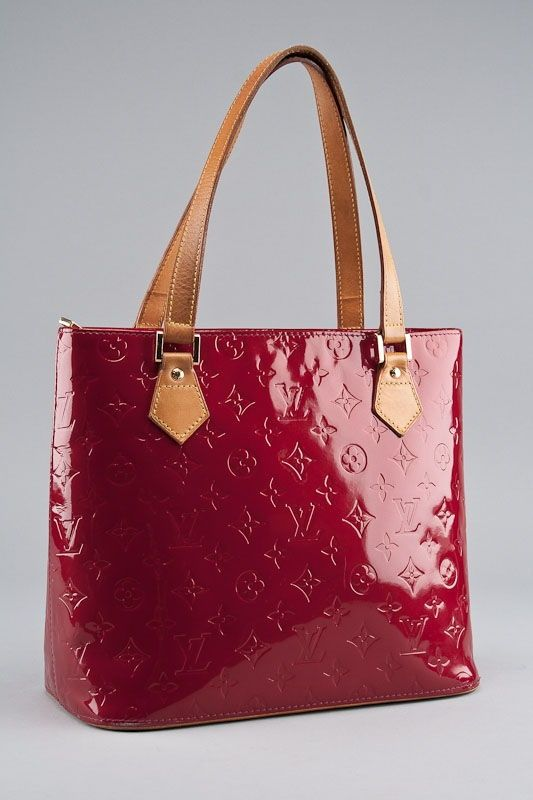 Louis Vuitton Red Houston Vernis Tote Bag  7ac4be2f4db14