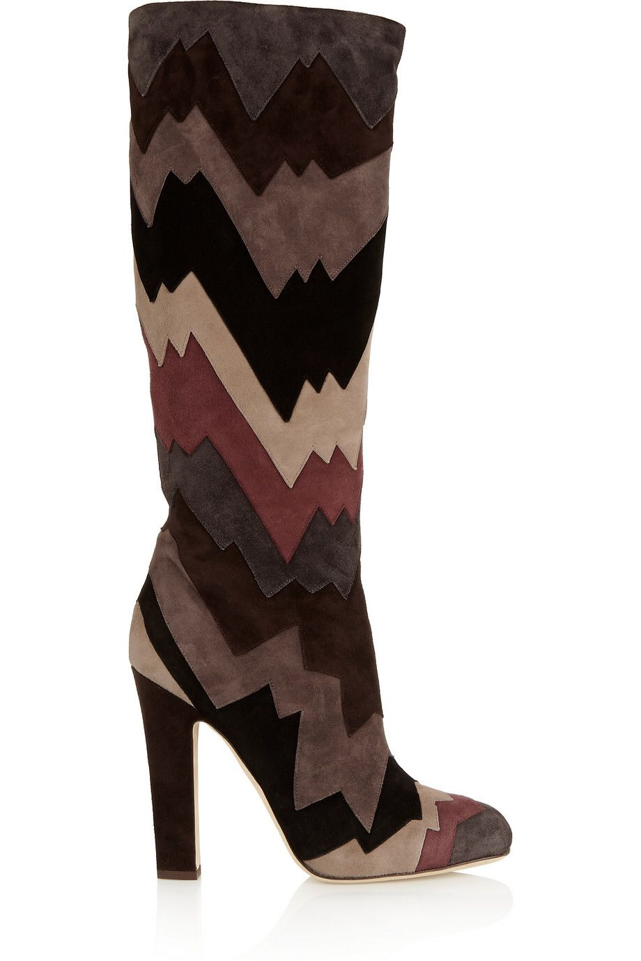 JIMMY CHOO Divina color-block suede knee boots £492.75 http://www.theoutnet.com/products/637335