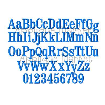 Block Serif Mini Alphabet Sizes Included    And