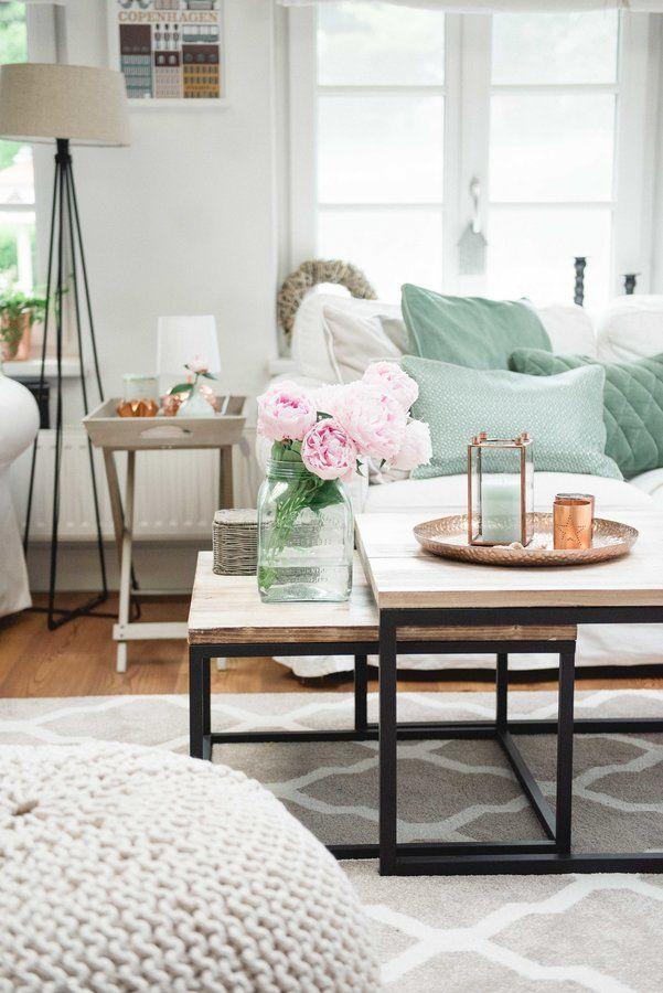 Wohnzimmer in Grün scandy home ideas Pinterest - wohnzimmer deko grun